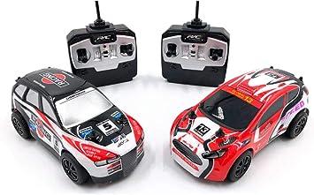 RC TECNIC Pack 2 Mini Coches Teledirigidos RC Rally Extreme 1:28 ...