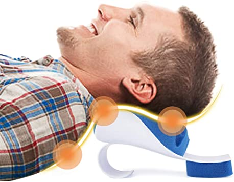 PAWING Chiropractic Pillow - Neck and Shoulder Relaxer Cervical Pillow Neck Traction Device for Pain Relief Management and Cervical Spine Alignment