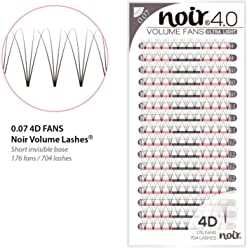 306adfe9551 Russian Lashes Pre made Fan Lashes | Top Quality with Short & Thin Base |  Noir