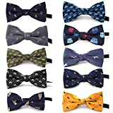 TOPTIE Adjustable Dog Bow Ties Collar Pet Bowties Neckties for Party Grooming Accessories-Set A
