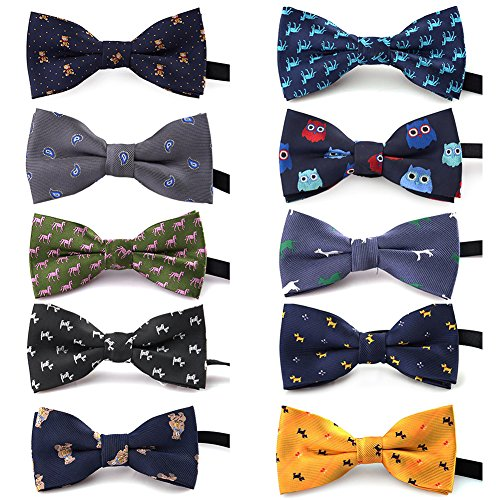 TopTie Polka Dots Bow Tie, Baby Boys Girls Dog Cat Bowties Collar, 10 PCS Assorted SETA (Cat Bowties)