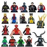 Super Heroes Avengers Minifigures 18pcs/lot Iron Man Batman Building Block Sets Model Bricks Toys Lego Compatible