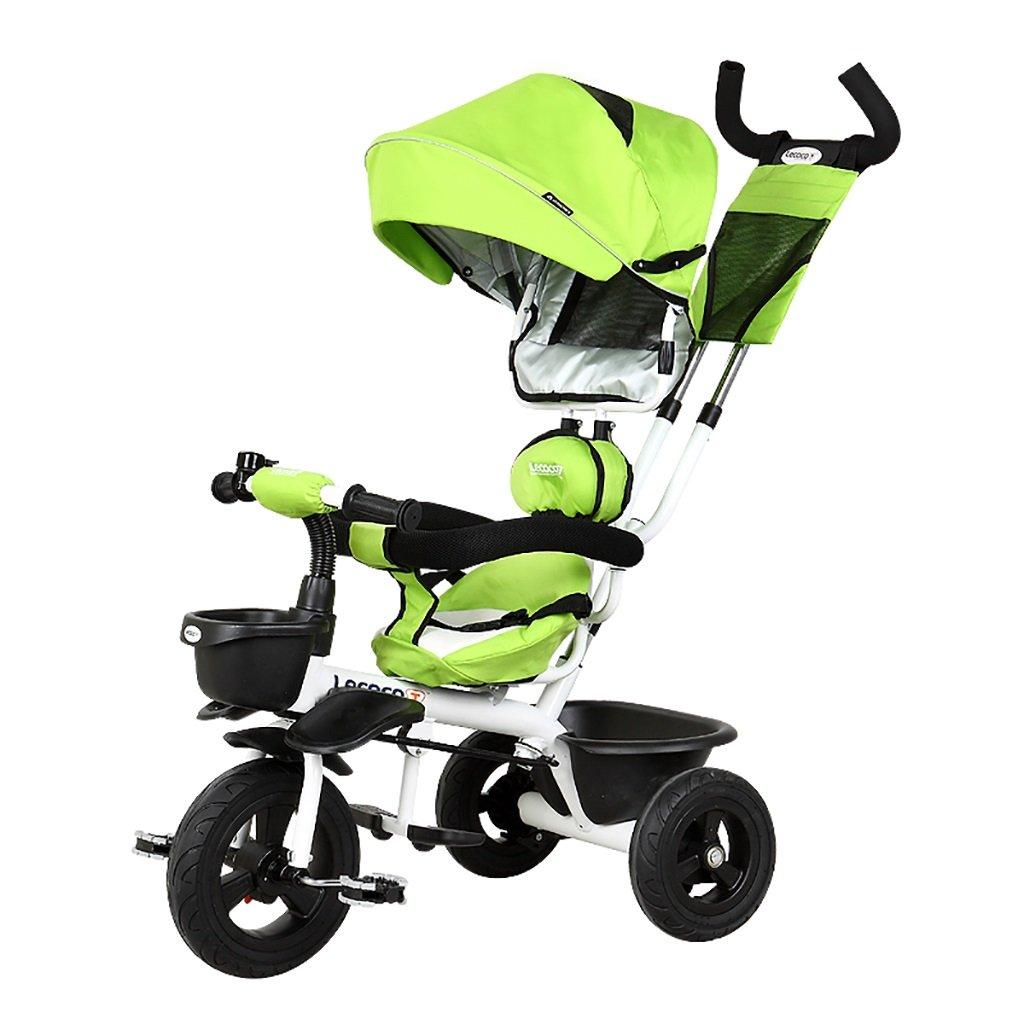 子供の金属プッシュベビー自転車/折りたたみ三輪車 (色 : A) B07DVL2VNSA