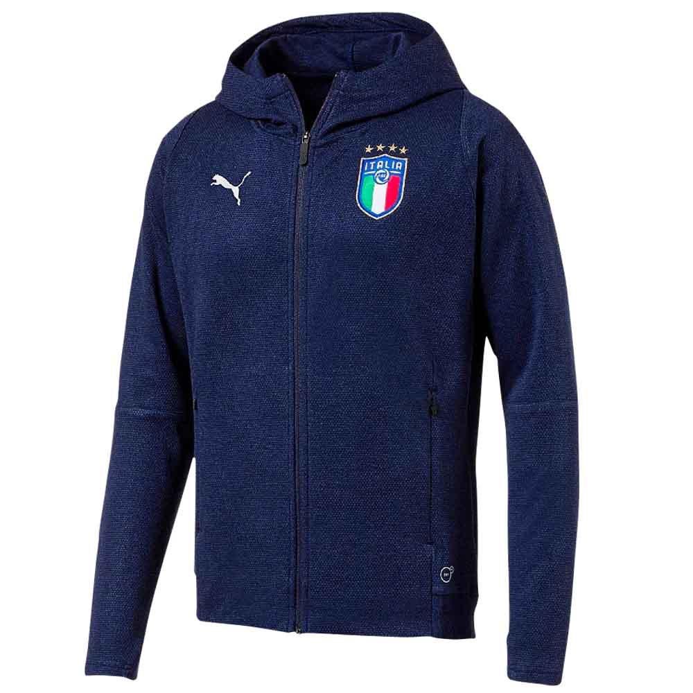 2018-2019 Italy Puma Casual Performance Zip Through Hoody (Navy)