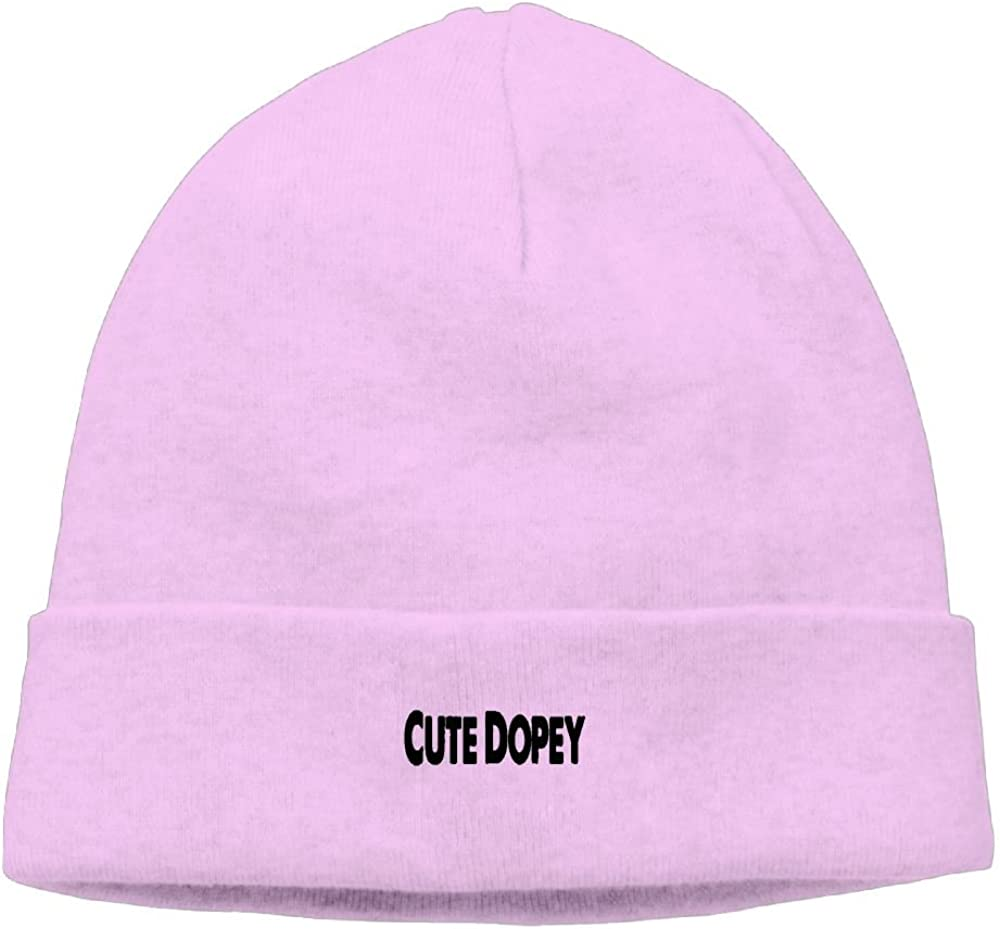 Cute Dopey New Winter Hats Knitted Twist Cap Thick Beanie Hat Pink