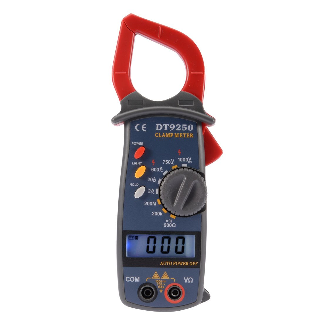uxcell 600A AC Meter Clamp Digital Clip-on Multimeter LCD Display Volt Ammeter Test Resistance Continuity Current Battery Powered Instrument Tool Portable