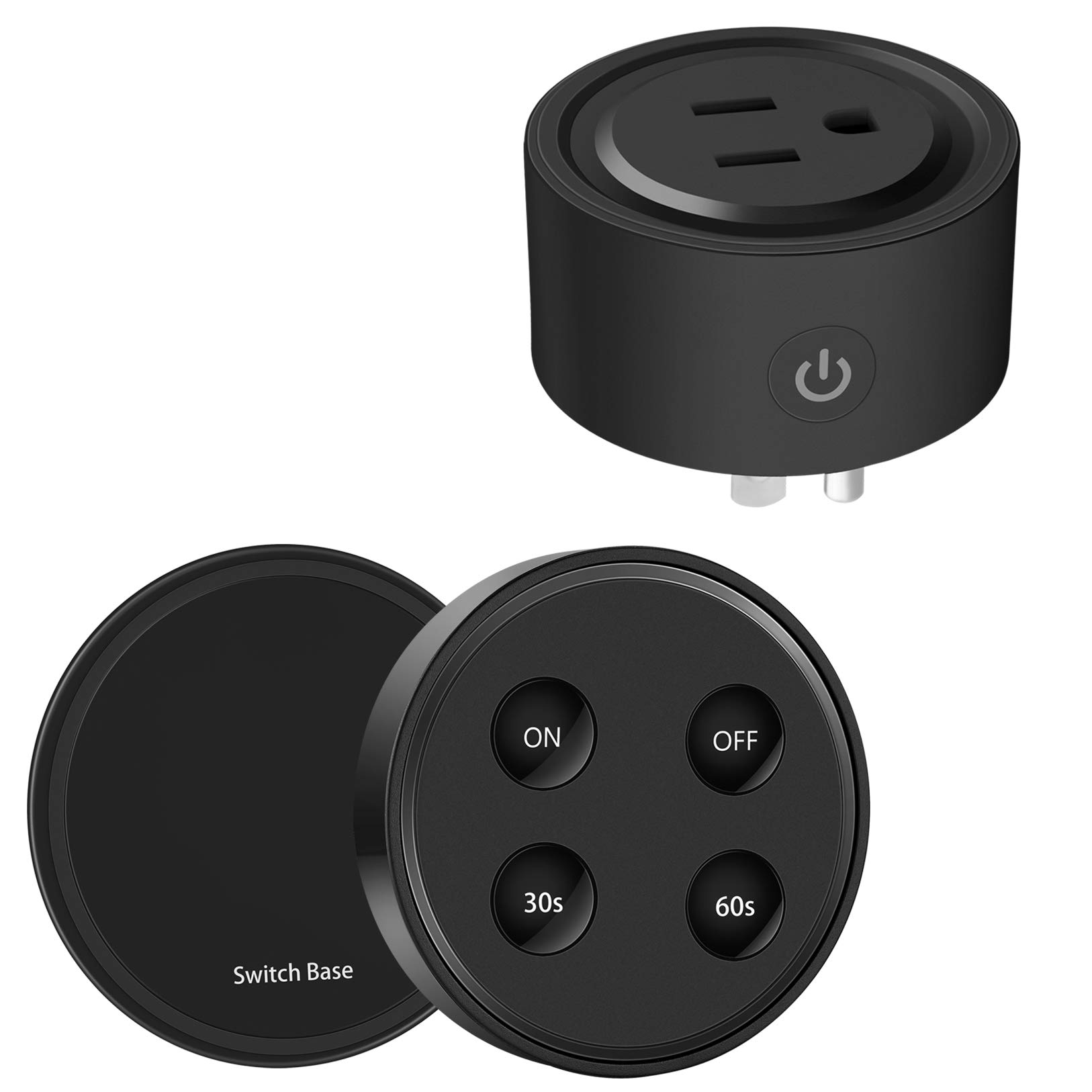 Didikit Garbage Disposal Wireless Switch Kit, Remote Control Outlet Timer with Switch, Sink Top Waste Disposal On/Off Button for 1/3 HP, 1/2 HP Insinkerator, Waste King Waste Food Disposer, 10A/1100W