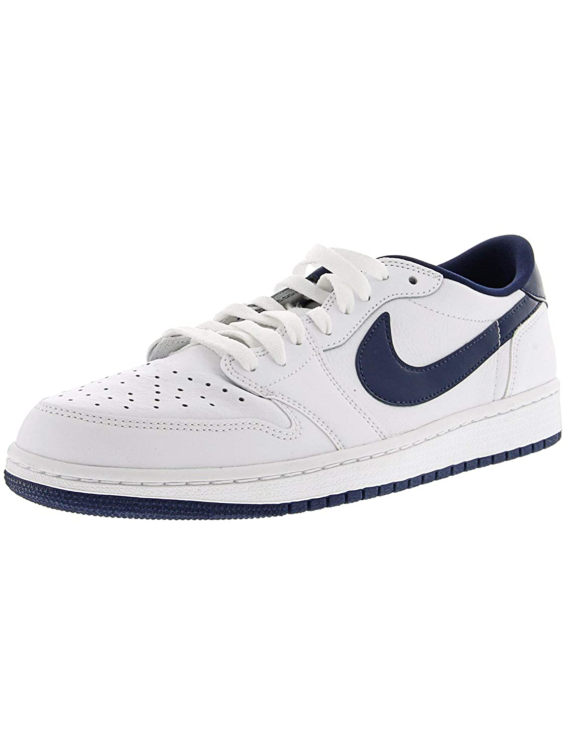 Fashion 1 Navy Nike Og Air 10 Jordan Low Men's 5M Retro Sneaker High Ankle WhiteMidnight lcJT1KF