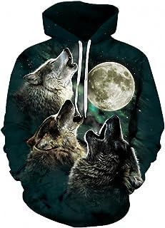 Wolf Pritned Men Women Hoodies 3D Hooded Sweatshirts Autumn Spring Pullover Mabeach