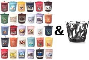 Yankee Candle 8 Assorted Votives + FREE Votive Holder Variety Theme (Fruit)