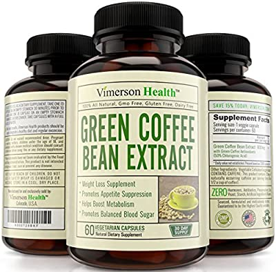 Weight Loss Supplement Green Coffee Bean Extract 100% All Natural, Non-gmo, Gluten Free. Most Effective Appetite Suppressant, Metabolism Booster, Fat Burner & Carb Blocker - Best Diet Pills That Work Fast for Women and Men - Premium Ultra Pure Brand - Hig