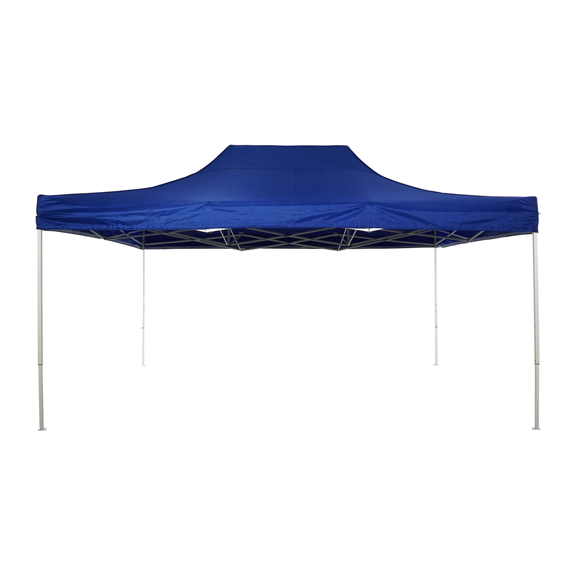 Patio Commercial Canopy White Steel Frame Heavy Duty Pop Up Party Festival Instant Shelter Canopy (10 x 15 Feet, Blue)