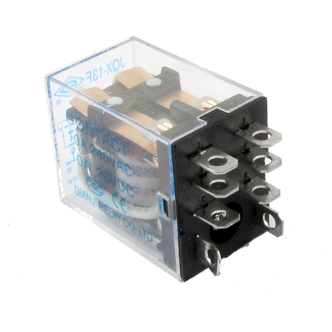 uxcell 8 Pin Terminals AC240V DC28V 10A Contact DC12V Coil Power Relay JQX-13F2Z