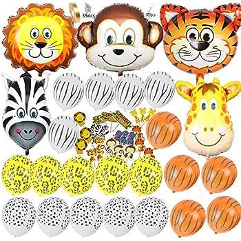 amazoncom jungle safari animals balloons 6pcs 22 inch