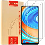 [3-Pack] PULEN for Xiaomi Redmi Note 9S,Redmi Note 9 Pro and Redmi Note 9 Pro Max Screen Protector,HD Clear Scratch Resistance Bubble Free 9H Hardness Tempered Glass