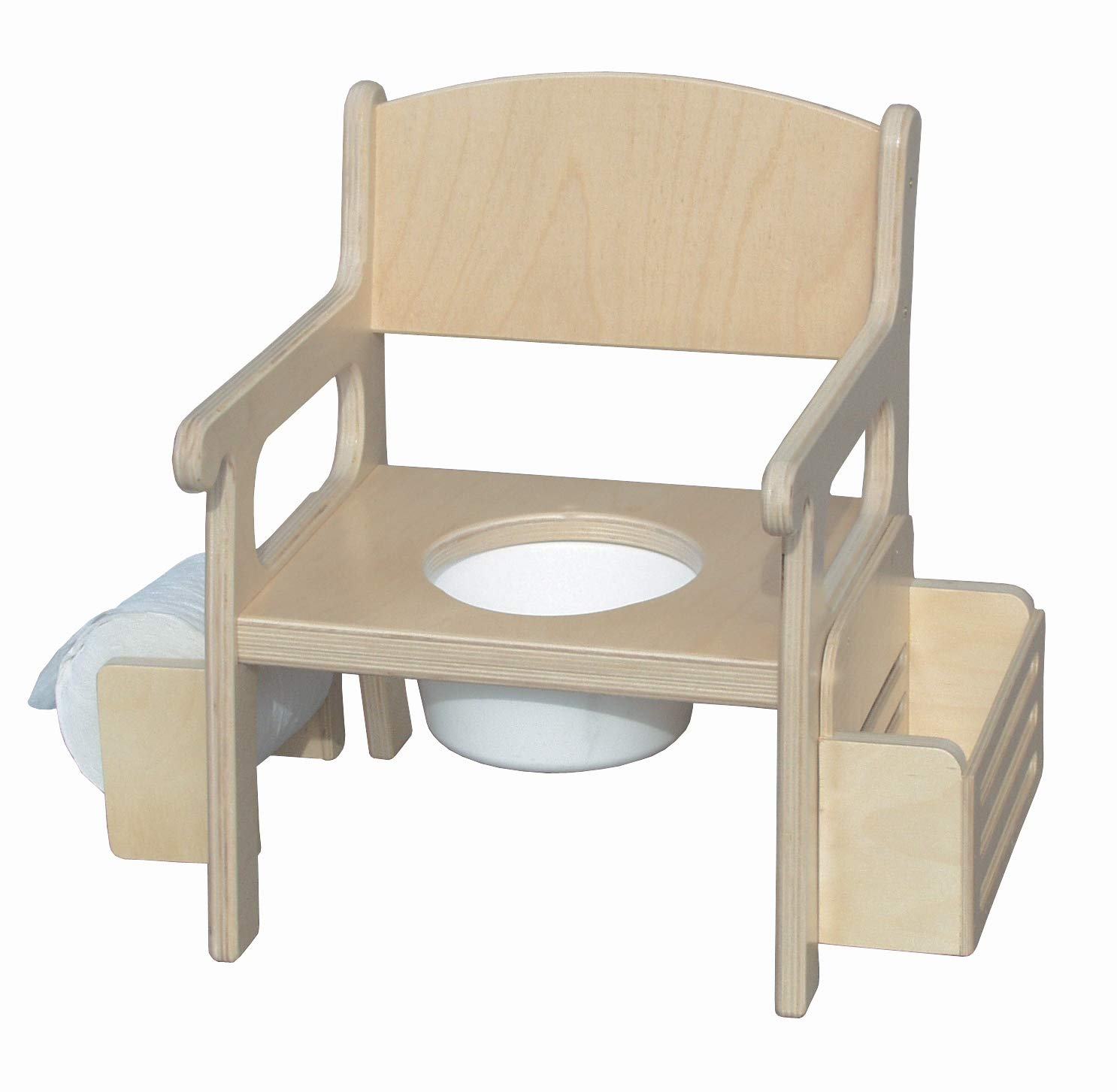 Little Colorado 02728NA Potty Chair with Accessories-Natural