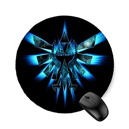 Amazon com : The Legend of Zelda Abstract Symbols (Round) Mouse Pad