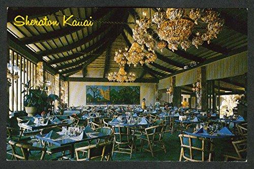 Outrigger Dining Room Sheraton Kauai HI postcard 1960s