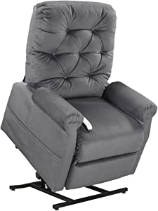 Mega Motion Classica Power Lift Chair Recliner- Charcoal (Curbside Delivery)