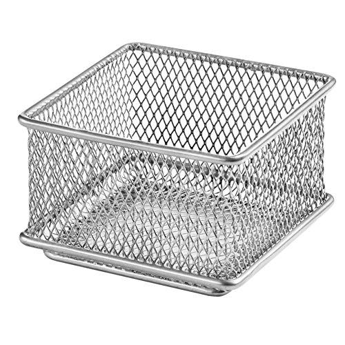 Ybm Home Silver Mesh Drawer Cabinet and or Shelf Organizer Bins, School Supply Holder Office Desktop Organizer Basket 1612 (3x3)