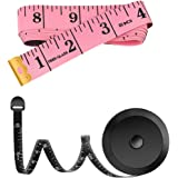 2 Pack 60-Inch Measuring Tape for Body Waist Fabric Tailor Cloth Sewing Knitting Craft Measurement, Fashion Soft Mini…