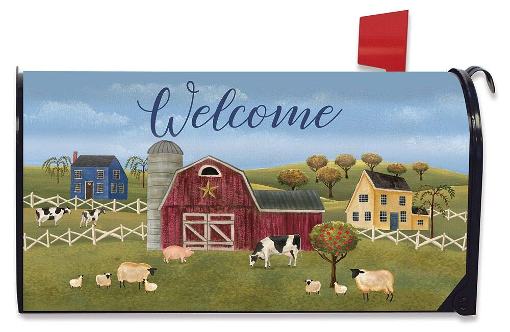 Briarwood Lane Spring Countryside Welcome Magnetic Mailbox Cover Primitive