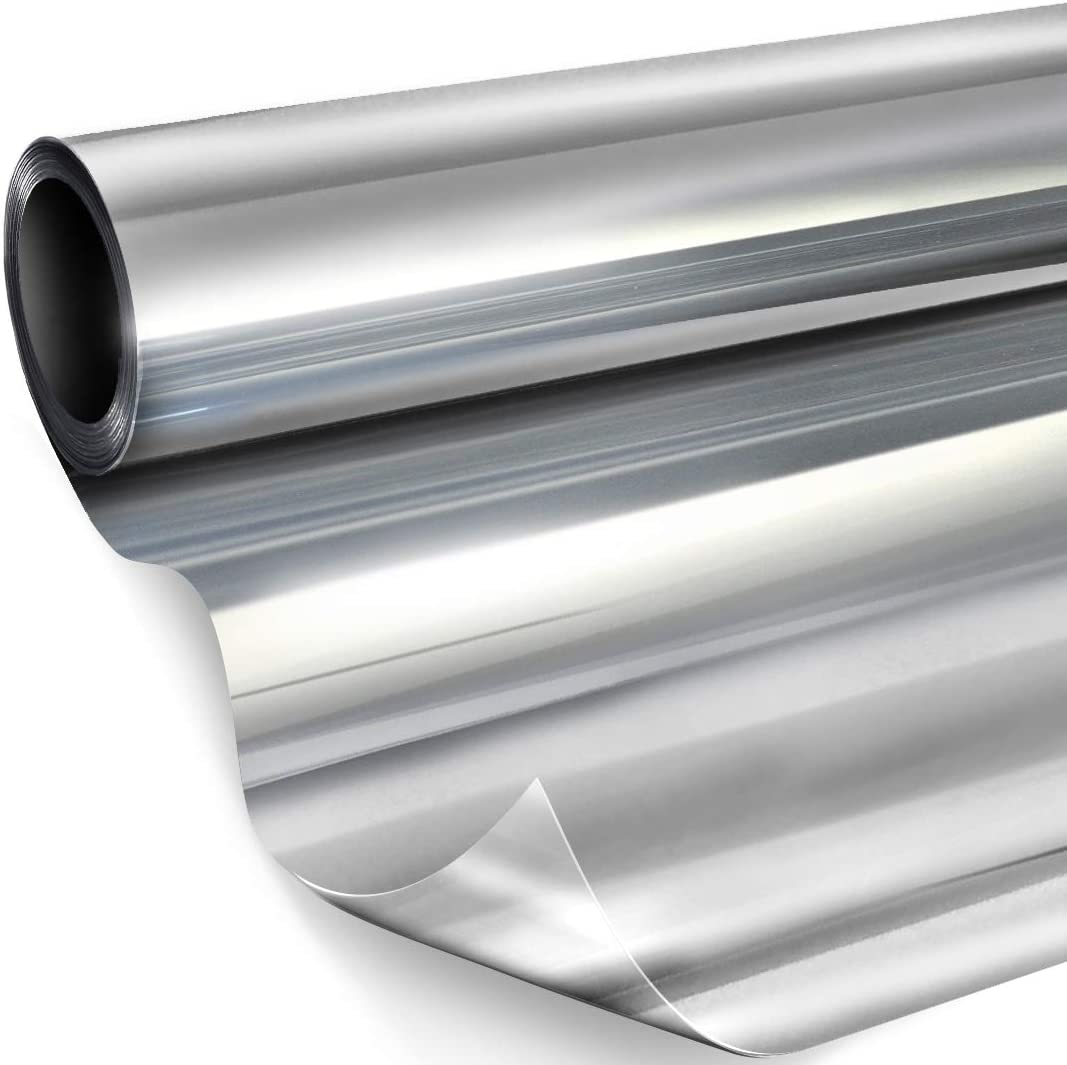 VViViD One-Way Vision Adhesive-Backed Silver Solar Tint Window Vinyl 60in x 10ft Roll
