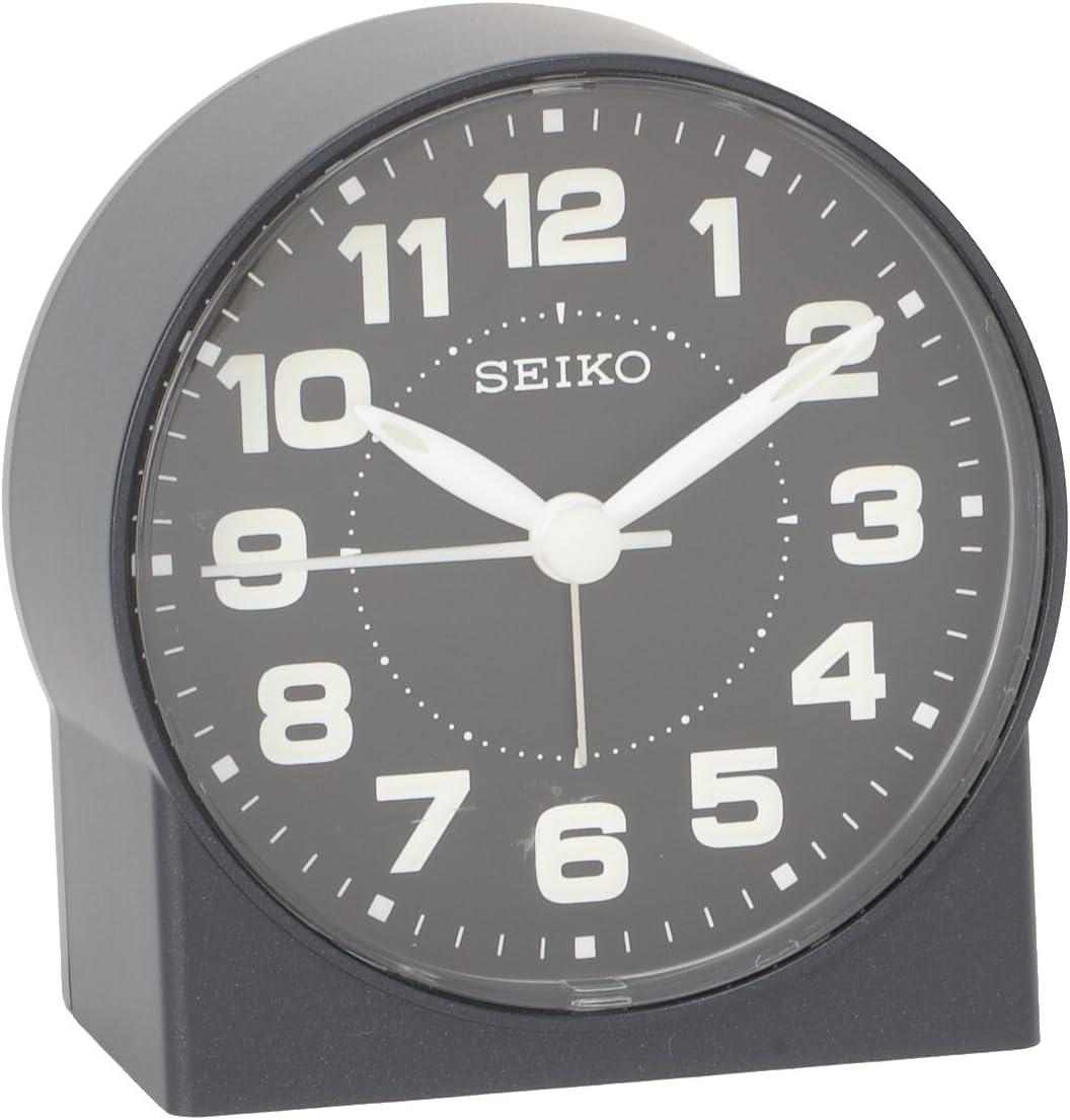 "Seiko 3"" Compact & Lightweight Bedside Alarm Clock"