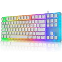 Womier K87 Mechanical Gaming Keyboard 60% Hot Swappable Keyboard Partitioned RGB Backlit Compact 87 Keys for PC PS4 Xbox…
