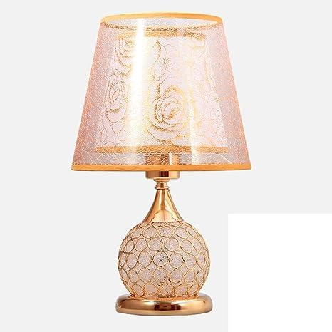 JIEJING Estilo europeo Cristal Decoración Lámparas de mesa ...