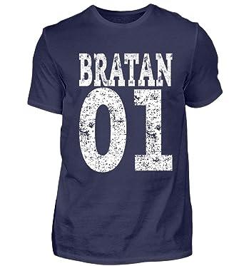 Hip Hop Bratan 01 Rap Brudi Russisch Bruder Brate Geschenk - Herren Shirt