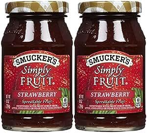 Smucker's Simply Fruit Strawberry Spread, 10 oz, 2 pk