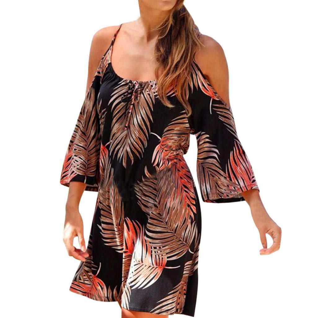 POLP Vestidos Largo ◉ω◉ estidos Mujer Verano Vestido Largo A Rayas de Mujer Boho Vestido Tallas Grandes Sexy Vestido de Tirantes sin Mangas de Playa de ...