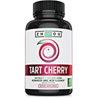 Tart Cherry Extract Capsules with Celery Seed - Advanced Uric Acid Cleanse for Joint Comfort, Healthy Sleep Cycles…
