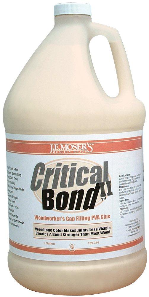 J.E. Moser's 139316, 4-pack, Adhesives, Water Based, Critical Bond II Wood Glue Gal