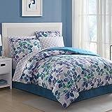Ellison Great Value 15701604BB Abela 8 Piece Bed in a Bag, King, Blue