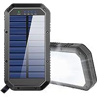 Batería Externa 25000mAh, Cargador Solar Carga Rápida Power Bank con 3 Salidas USB de Teléfono Celular, Power Bank movil…