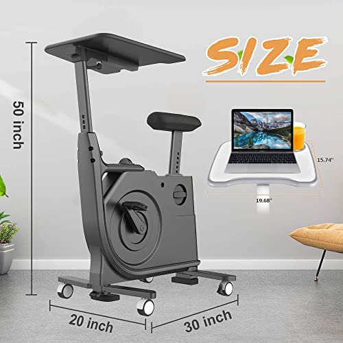 V-FIRE Indoor Cycling Bike, Standing Desk Exercise Bike with Fully Adjustable Magnetic for Home, Office, Sport and Workout
