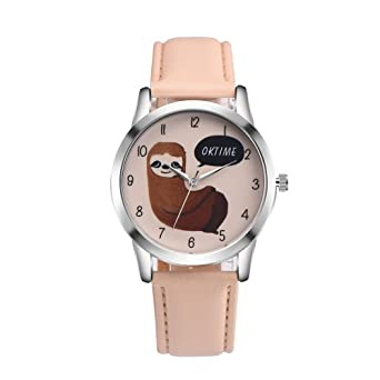 COOKI Women Quartz Watches Clearance Analog Ladies Wrist Watches Girl Watches Leather Female Watches-A35