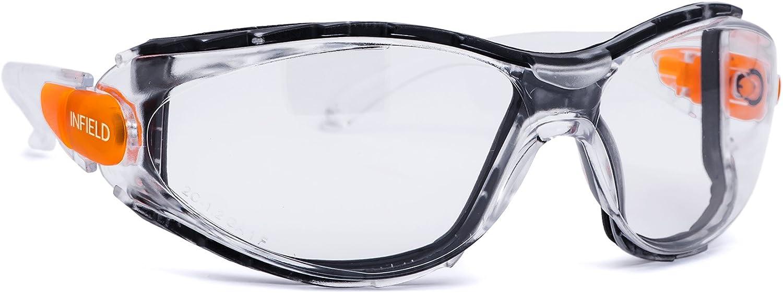 Infield Gafas protectoras Matador transparente anticondensación, antiestático, resistente a los arañazos