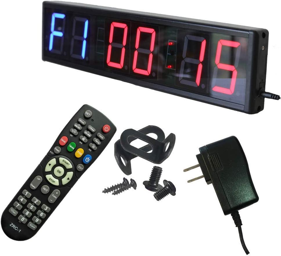 Ledgital Interval Timer Large Crossfit Clock for Home Gym | Countdown/UP Stopwatch Timer for Gym w/Remote Control
