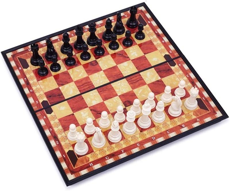 Kottao. Natural Logistics Ajedrez Magn/ético-Madera-Tablero De Ajedrez Plegable-Juego de ajedrez-Juegos De Mesa cl/ásicos-Ajedrez Profesional-ni/ños-peque/ño