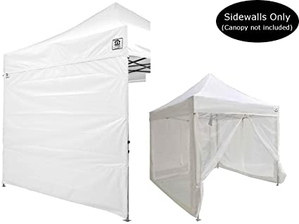 Impact Canopy 10x10 Canopy Tent Solid Sidewalls/Screen Room Sidewalls Combo  Pack (White)