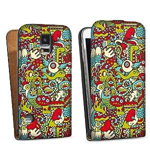 Diseño para Samsung Galaxy S5 DesignTasche black - Monster Doodle