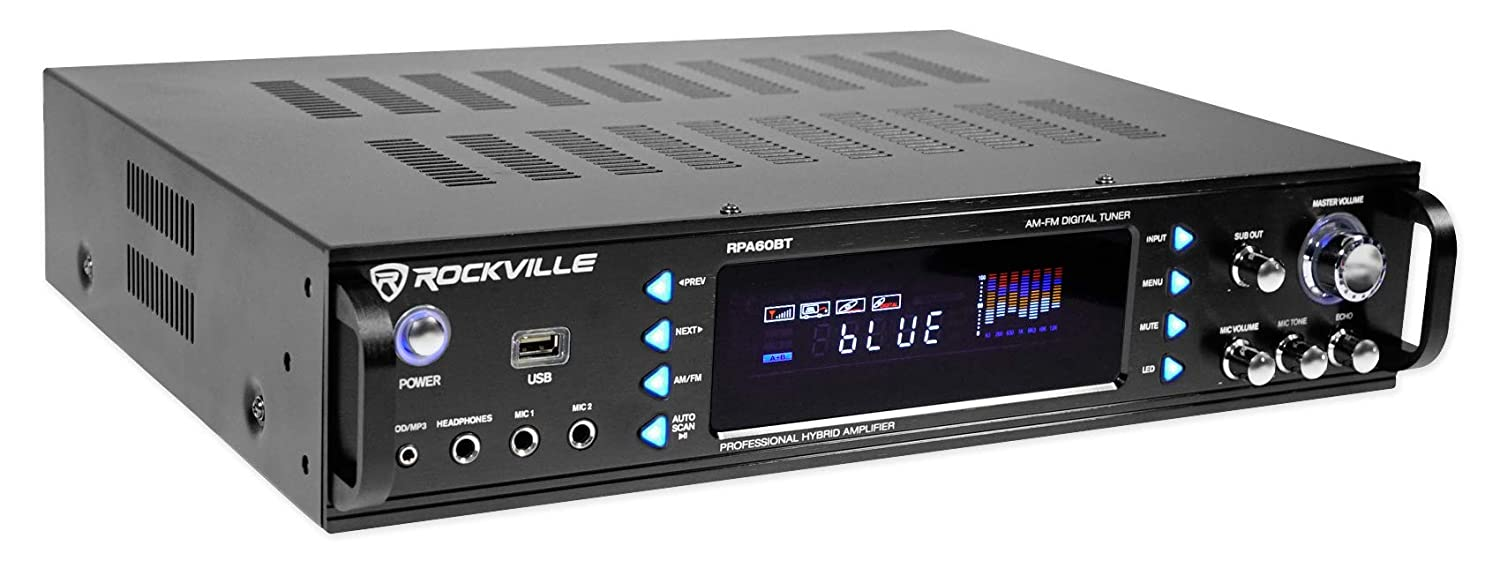Rockville Rpa60bt 1000w Home Theater Bluetooth Receiver Audio Graphic Equaliser Electronic Boy For You 2 X 21 Band Equalizer Eq Electronics