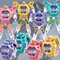 AMOFINY Baby Toys Cartoon Electronic Watch, Deformation Watch, Educational Toy, Deformation Watch Electronic Deformation Watch Children Creative Manual Transformation Robot Toys