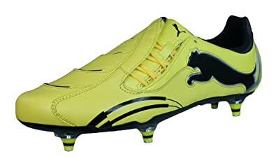 2ce6c4ffb PUMA Powercat 1.10 Rugby WC SG Mens Leather Rugby Boots-Yellow-11.5