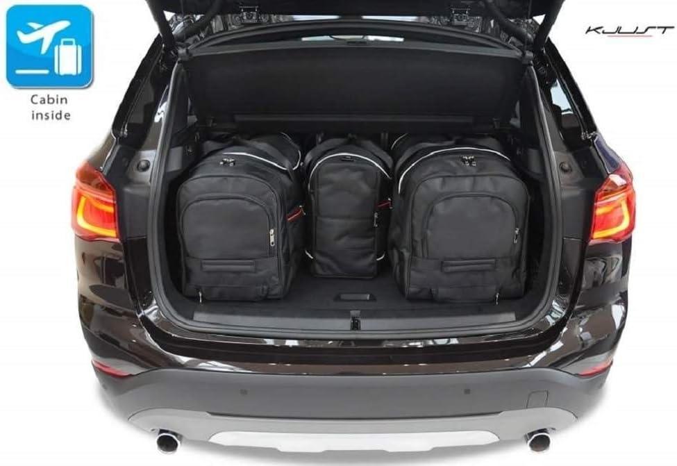 KJUST Dedizierte Kofferraumtaschen 4 STK Set kompatibel mit BMW X1 F48 2015