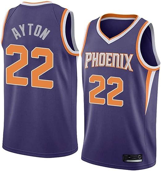 XSJY NBA Jersey - Phoenix Suns 22# Camisa Sin Mangas Deandre Ayton Baloncesto Jersey Transpirable Baloncesto De La Manera del Chaleco De Los Hombres,B,S:165~170cm/50~65kg: Amazon.es: Hogar