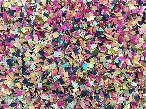 Hot Pink Navy Blue Metallic Gold Confetti Mix Wedding Shower Party Decorations Bulk Wholesale Throwing Send Off Table Decor InsideMyNest (25 Handfuls)
